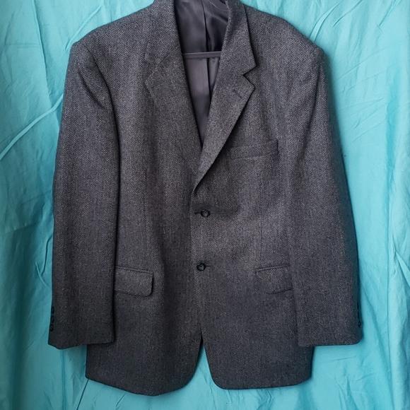 Stafford over coat gray blazer jacket